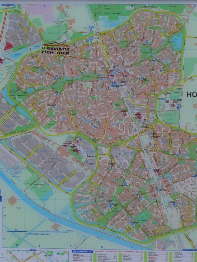 Stadtplan Houten (Foto: Julia Jarass/EXPERI)