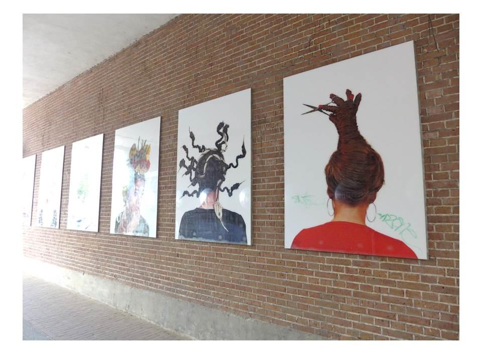 Kunst-Installation in Amsterdamer Blockdurchwegung (Foto: Julia Jarass/EXPERI)