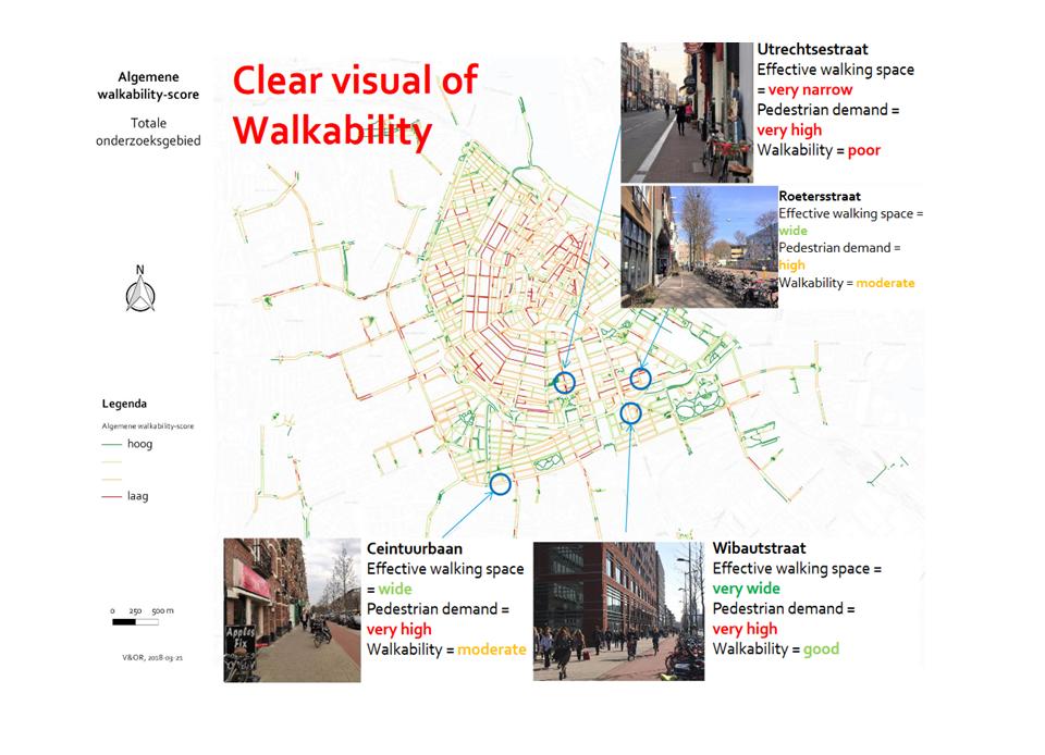 Walkability-Index in Amsterdam (Grafik: Johan Olsthoorn, Julia Úbeda Briones/Gemeente Amsterdam)